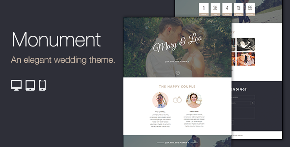 Monument – Responsive WordPress Wedding Theme (Wedding)