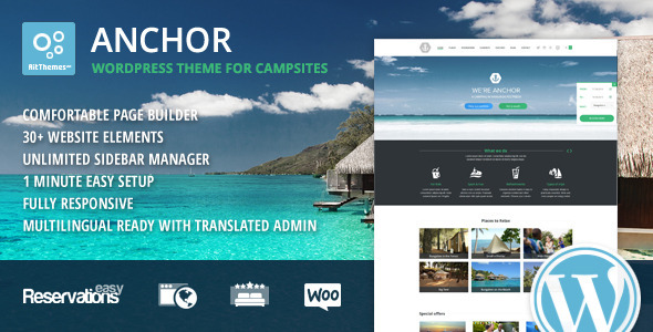 Anchor – WP Theme with Reservation System (Travel)