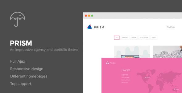 Prism – Portfolio & Photography Retina Theme (Creative)