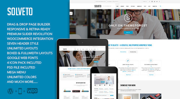 Solveto – Multi-Purpose Business Theme (Business)