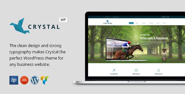 Crystal – Responsive Business WordPress Theme (Business)
