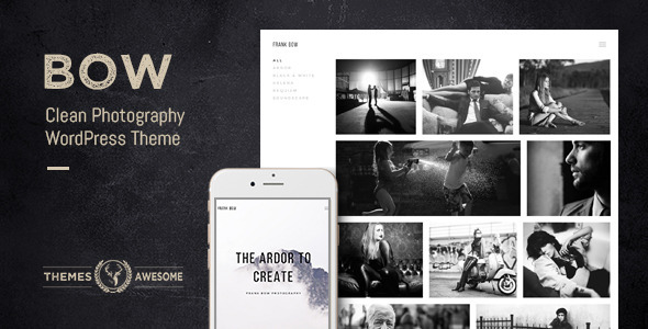 Bow – Clean Photography Portfolio Theme (Photography)