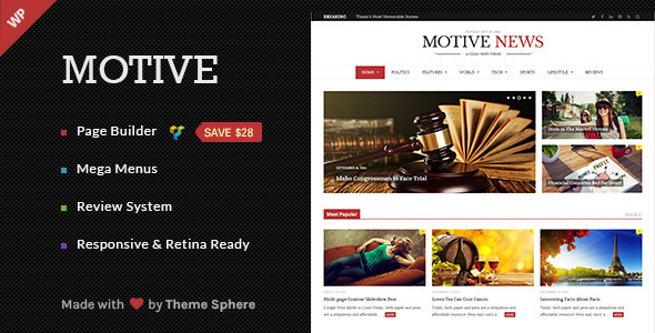 Motive – Magazine, News, Blog WordPress Theme (News / Editorial)
