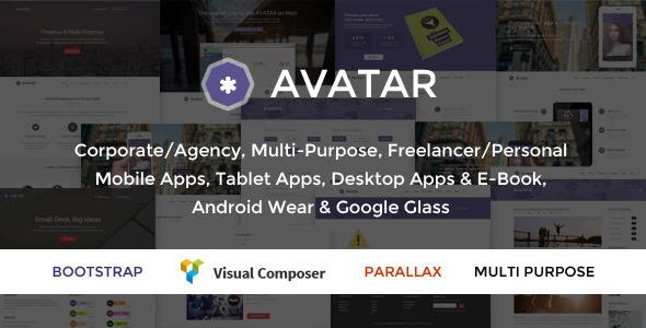 Avatar – One Page Parallax Theme (Portfolio)