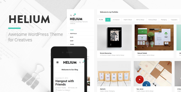 Helium – Modern Portfolio & Blog Theme (Portfolio)