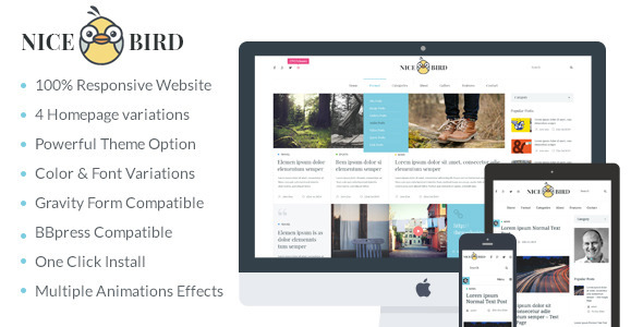 NiceBird | Blog and Newspaper WordPress Theme (Blog / Magazine)