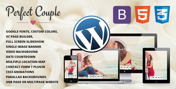 Perfect Couple – Wedding WordPress Theme (Wedding)