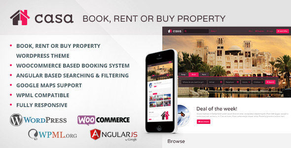 Casa – Book, Rent or Buy Property (Real Estate)