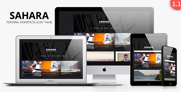 Sahara – Personal WordPress Blog Theme (Personal)
