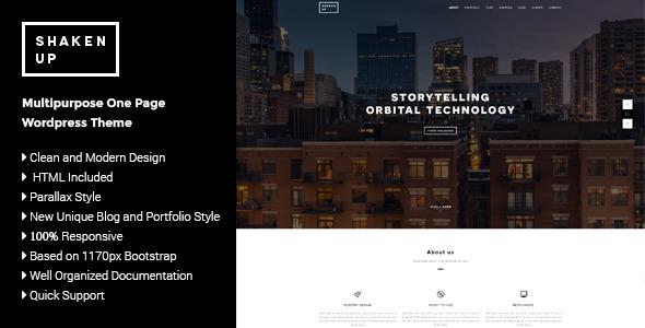 Shakenup – Multipurpose One Page WordPress Theme (Portfolio)