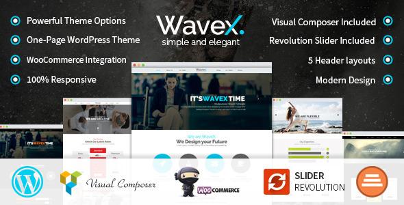 WaveX – One Page Parallax WordPress Theme (Creative)