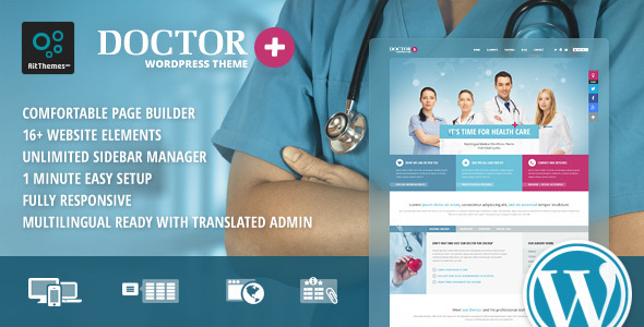 Doctor+: Responsive Medical WordPress Theme (Health & Beauty)