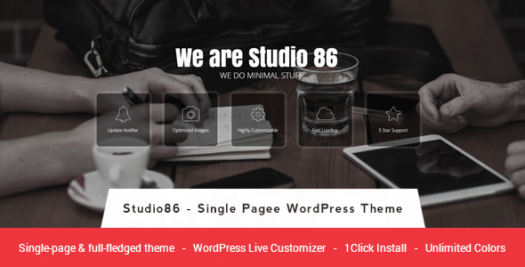 Studio 86 – Single Page & Multipage WP Theme (Business)