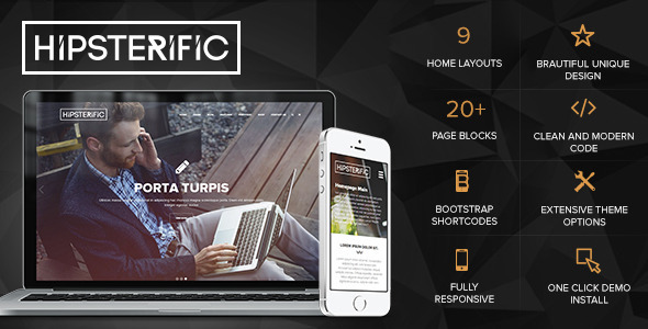 Hipsterific – Responsive Multi-Purpose WP Theme (Creative)