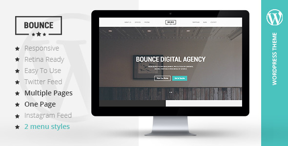 BOUNCE – Responsive Multipurpose WordPress Theme (Portfolio)